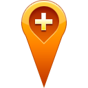 location, pin, Add Chocolate icon