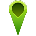 pin, location OliveDrab icon