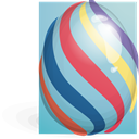 egg, striped, easter SkyBlue icon