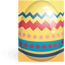 egg, easter, yellow, red Khaki icon