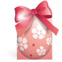 Ribbon, easter, egg Black icon