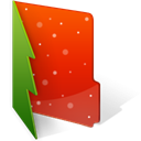 Folder, christmas OrangeRed icon