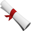 scroll, Certificate Black icon