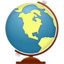 globe, world SteelBlue icon