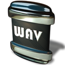 Wav, File Black icon