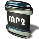 File, mp2 Black icon