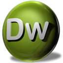 dreamweaver, adobe DarkOliveGreen icon