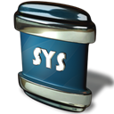 sys, File Black icon