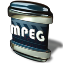 File, Mpeg Black icon