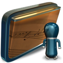 Folder, music, shared, my SaddleBrown icon