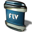 File, flv Black icon