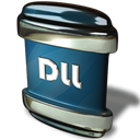 Dll, File Black icon