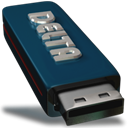 Removable, drive DarkSlateGray icon
