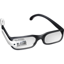 googleglass, White, google, student, Glasses Black icon