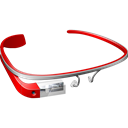 glass, google, red, googleglass Black icon