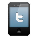 Mobile, twitter Black icon