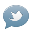 social network, tweet, twitter Black icon