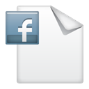 document, Facebook, post Icon