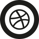 dribbble Black icon