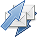 receive, mail, send Black icon
