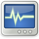 monitor, system, Utilities SteelBlue icon