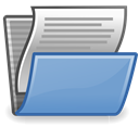 open, document CornflowerBlue icon