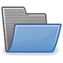 Folder, open CornflowerBlue icon