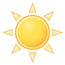 Clear, weather Black icon
