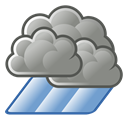 weather, showers Black icon
