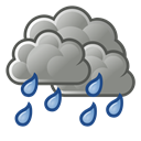weather, scattered, showers Black icon