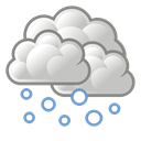 weather, Snow Black icon
