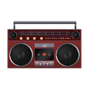 red, Boombox Black icon