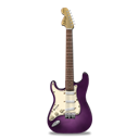 pink, stratocastor, guitar Black icon