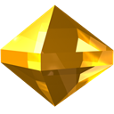 yellow, precious, Stone, zircon, gem, jewel SaddleBrown icon