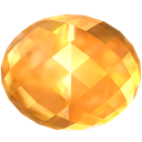 jewel, gem, yellow, Citrine, Stone, precious SandyBrown icon