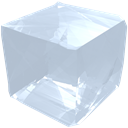 Crystal, cube, transparent, precious, Transparency, Salt, jewel, gem LightSteelBlue icon
