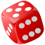 cube, Casino, gambling, Chance, gamble, poker, Game, 3d, risk, dice, Lucky Black icon