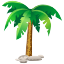 Holiday, Coconut, palms, palm, coco, islands, travel, Island, sand, relax, traveling, travels Black icon
