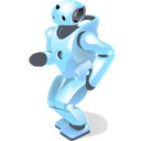 Shadow, robot, Dancing, with Black icon