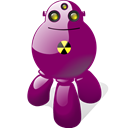 Shadow, with, Atomic, robot Purple icon