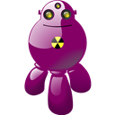corpuscular, nuclear, Atomic, Automatic, atomical, robot, automaton, automatic machine, machine, machine gun Purple icon