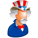 american, America, Stars, sam, uncle sam, usa, hat, united states, world police, us, uncle Black icon