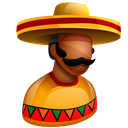 America, Mexico, south, Mexican, sombrero, american, latinos, hat, Boss, chief, latin Black icon