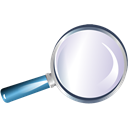 Magnifier, zoom, Loupe, reading-glass, Bull's-eye, magnifying glass Black icon