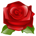 lilly flower, red, rose, plant, nature, Flower DarkRed icon