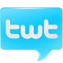 Chat, Logo, Bubble, social media, Social, tweet, bird, twitter, twt DeepSkyBlue icon
