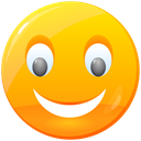 luck, Lucky, positive, Like, Face, smile, good, Emoticon, happy, smiley, Emotion Orange icon