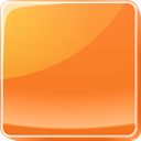 button, Orange Coral icon