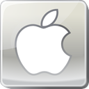 Logo, silver, social media, Apple Icon
