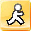 mail, instant, Messenger, Message, Aol, Chat Khaki icon